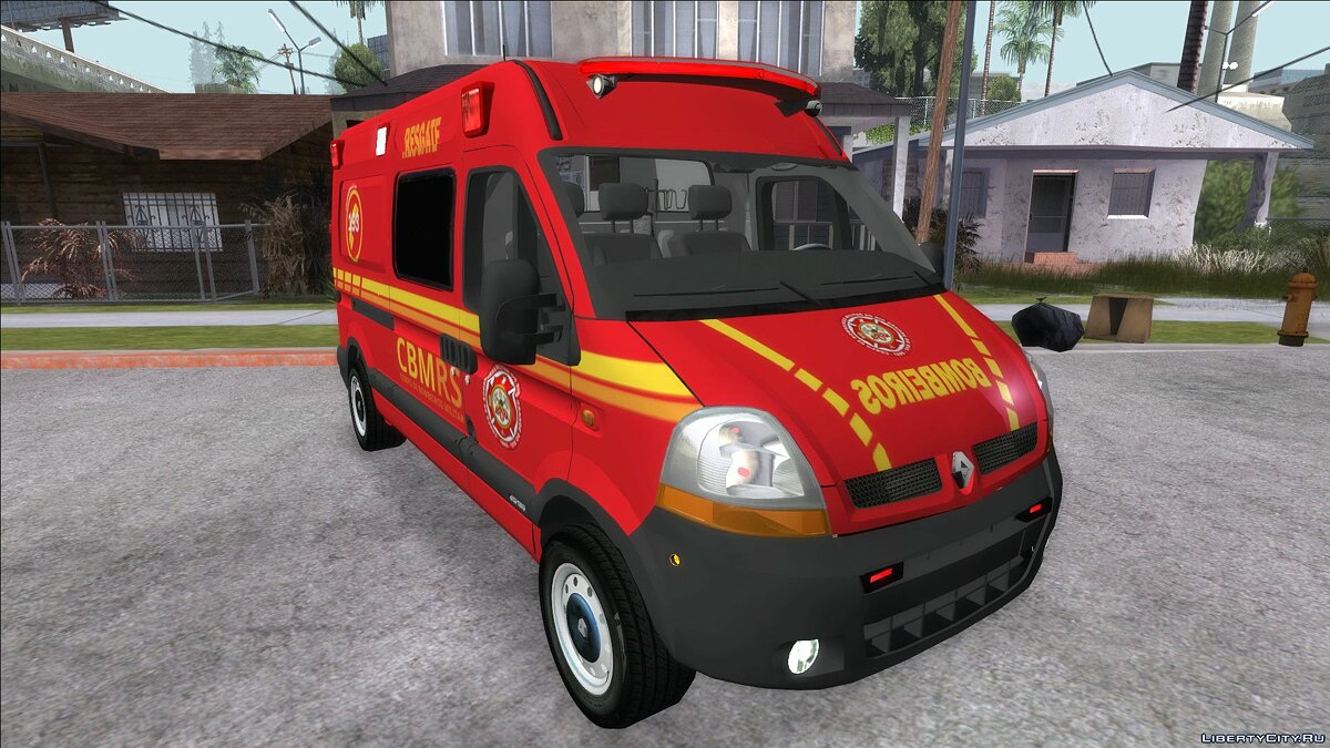 Renault car Renault Master Brazilian Ambulance for GTA San Andreas