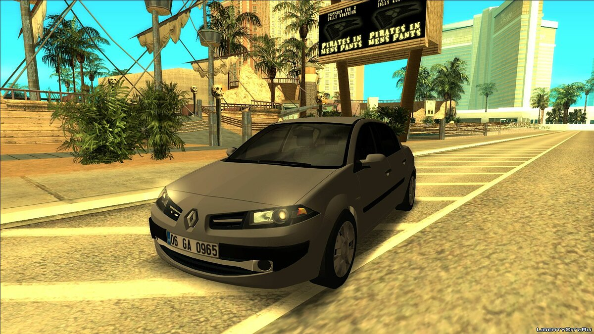 Renault car Renault Megane Sedan Authentique (Phase 2) for GTA San Andreas