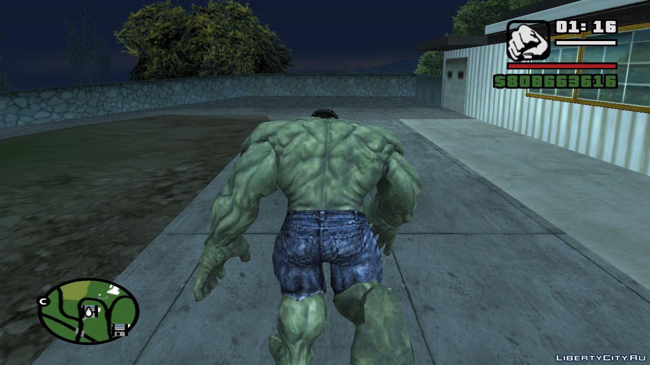 Hulk Mod v2 1 for GTA San Andreas