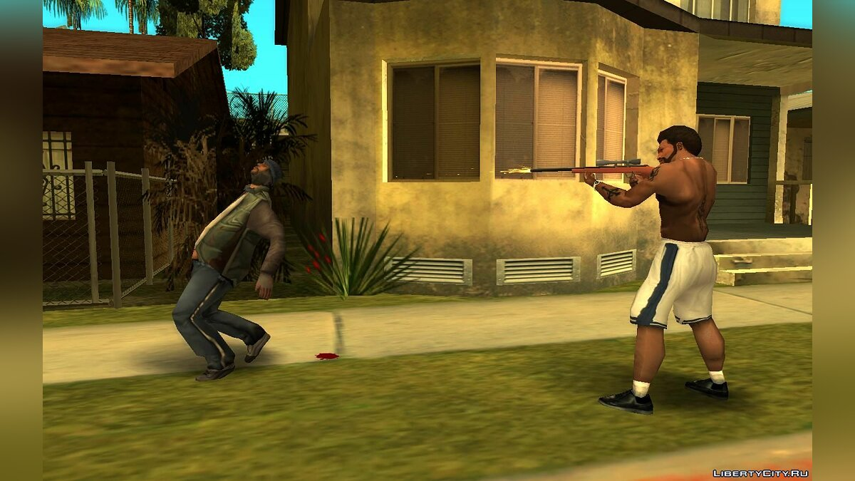 CLEO script Slow motion after shot with a sniper rifle (as in Sniper Elite) for GTA San Andreas