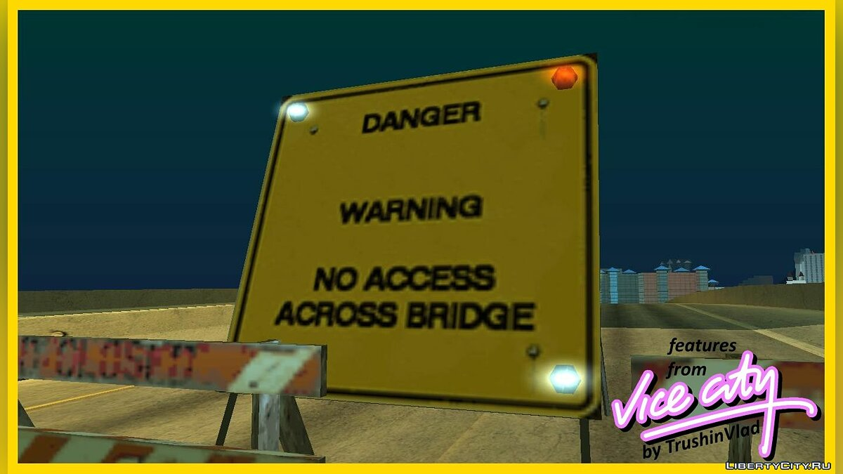 CLEO script The barriers are illuminated as in the GTA VC for GTA San Andreas