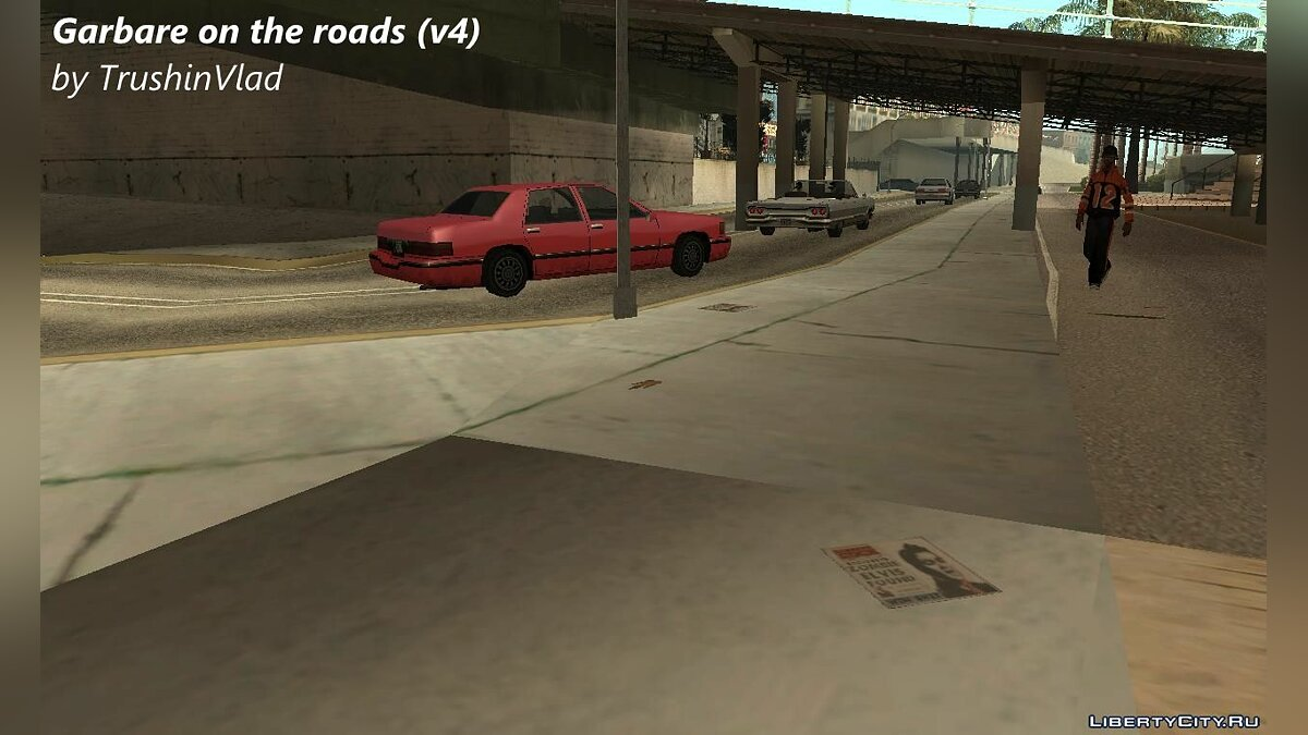 CLEO script Garbage on the roads like in GTA VC v2 for GTA San Andreas