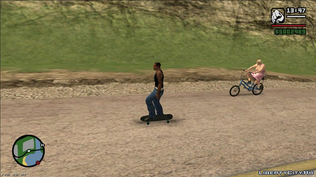 CLEO script Skateboard Update for GTA San Andreas