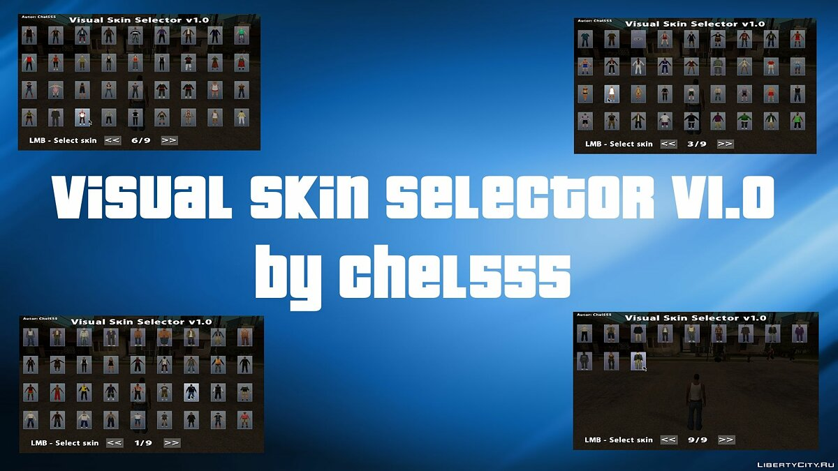 Visual Skin Selector v1.0 for GTA San Andreas