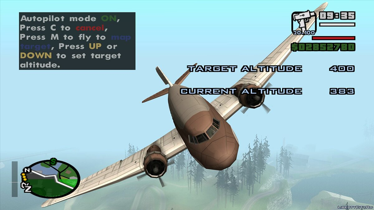 CLEO script Better Autopilot V2 - Improved autopilot for airplanes and helicopters for GTA San Andreas