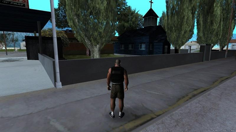 CLEO script Retexture of the church of Palomino Creek in a gloomy style for GTA San Andreas