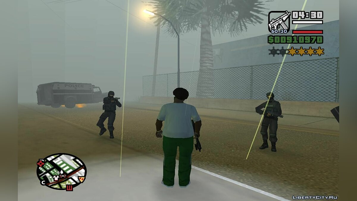 CLEO script Random weapons, health and accuracy for all enforcers (SA) 1.4 for GTA San Andreas