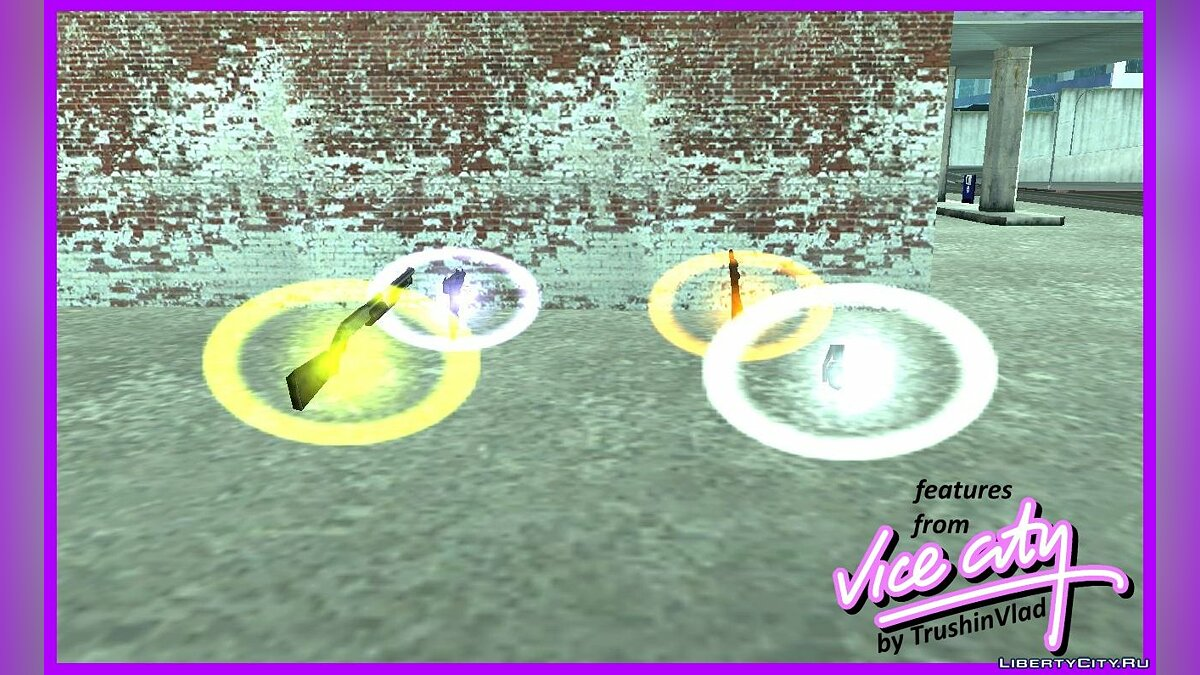 CLEO script Pick-ups are highlighted in both GTA 3 for GTA San Andreas