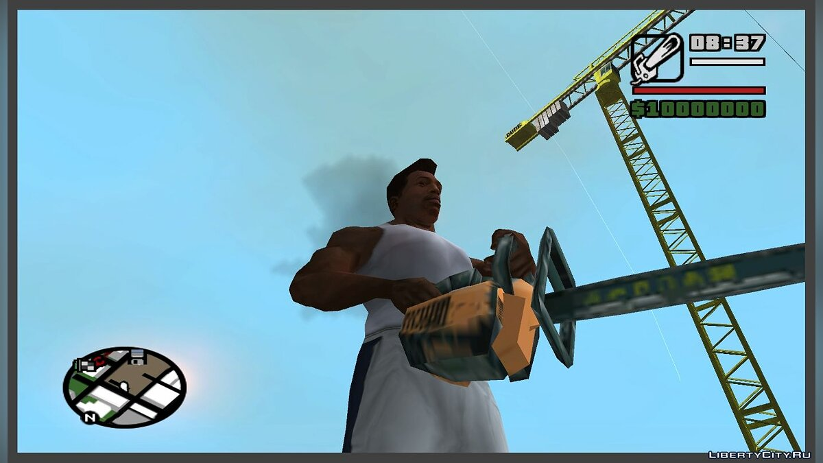 Smoke from the chainsaw as in GTA CW for GTA San Andreas
