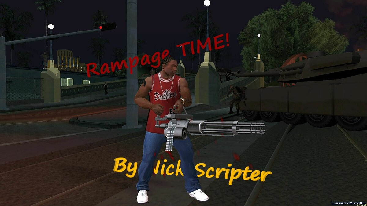 CLEO script Rampage Time! (Transfer) for GTA San Andreas