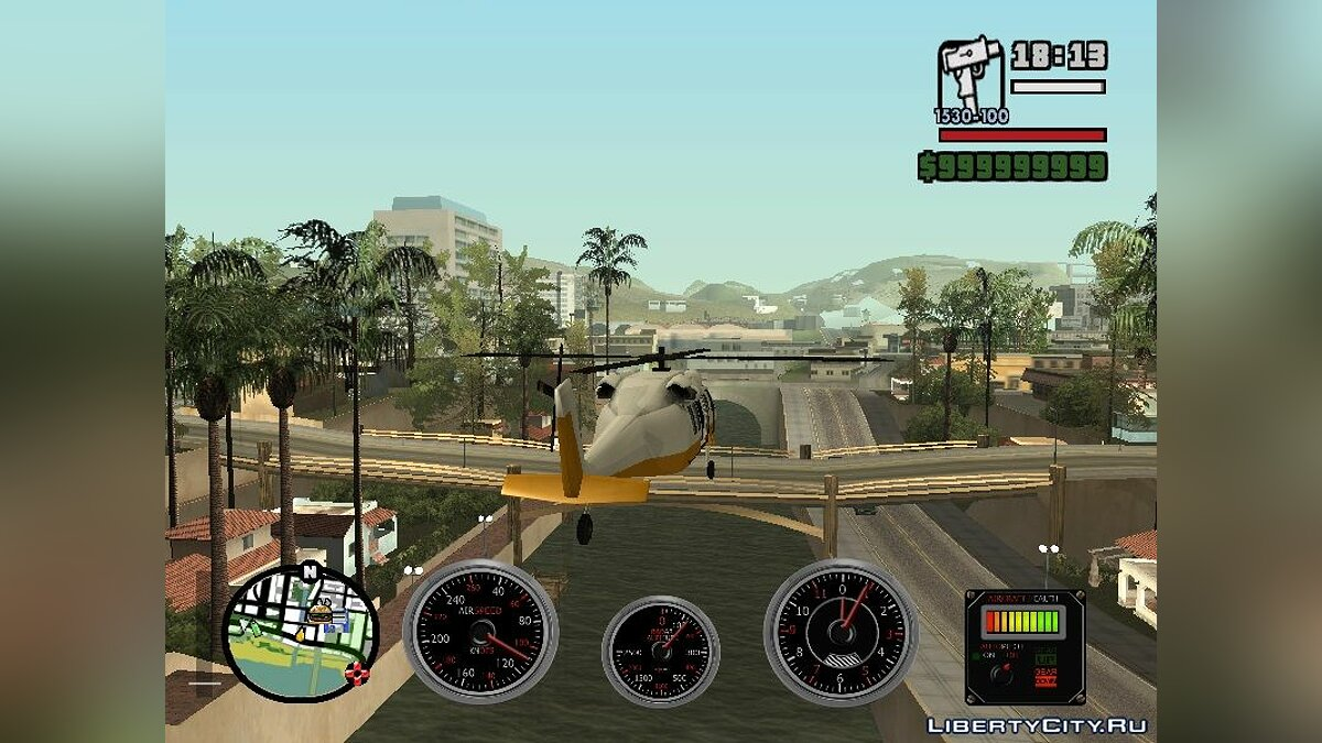 CLEO script Horizontal flight for helicopters for GTA San Andreas