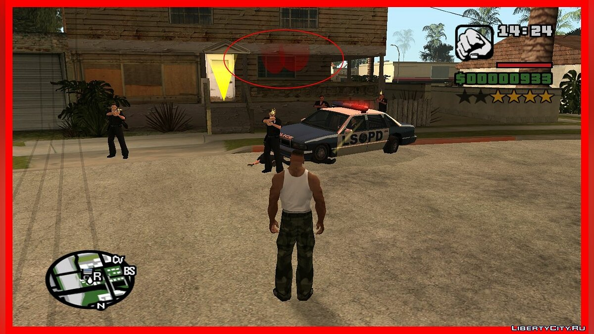CLEO script Blood on the screen as in GTA V for GTA San Andreas