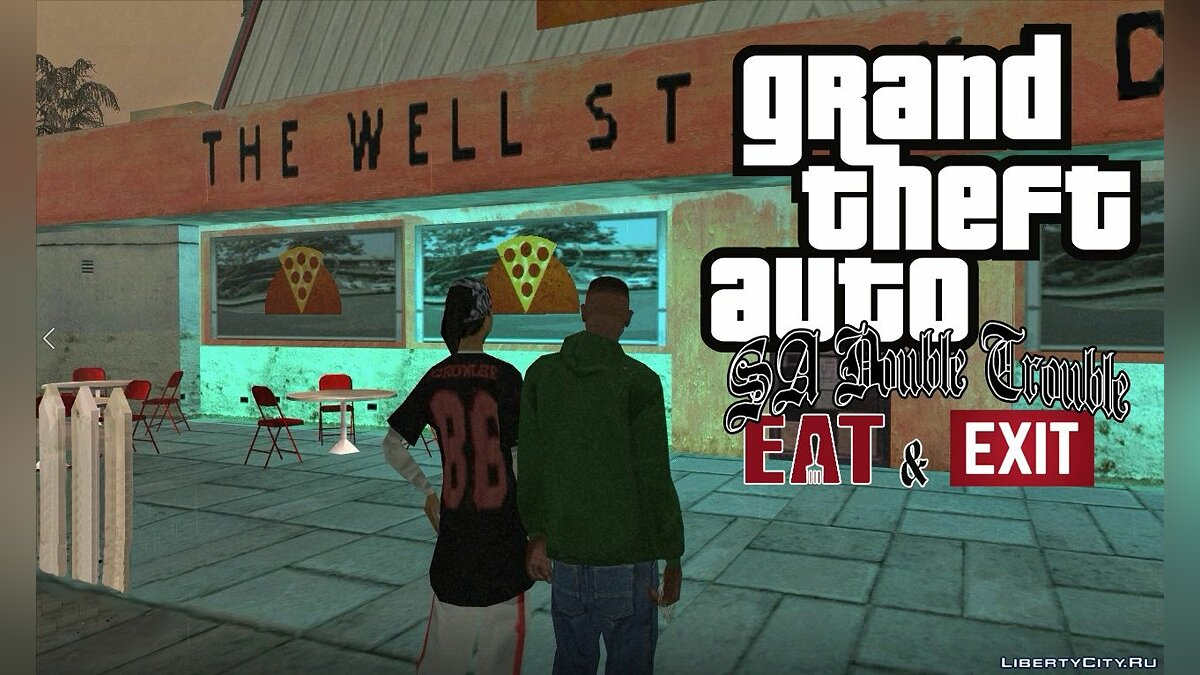 CLEO script Double Trouble - Eat & Exit [Add-on] for GTA San Andreas