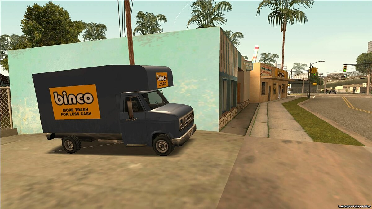 CLEO script New Parked Transport (Los Santos) for GTA San Andreas