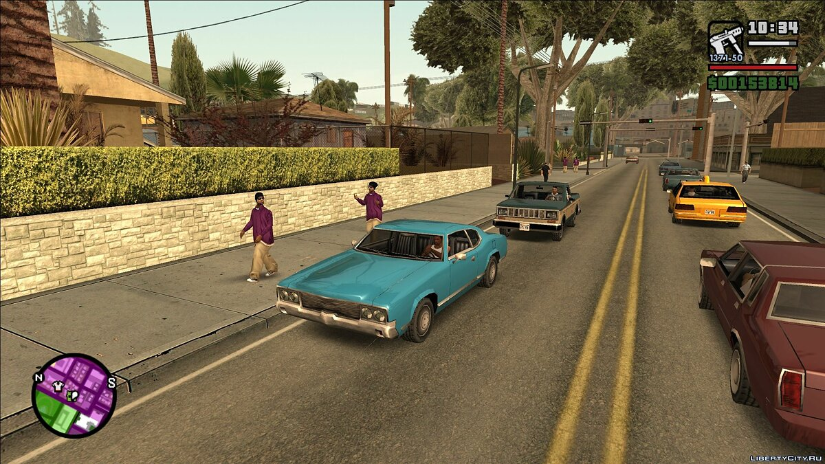 CLEO script Indifferent Gangs v2.0 (less aggressive gangs) for GTA San Andreas