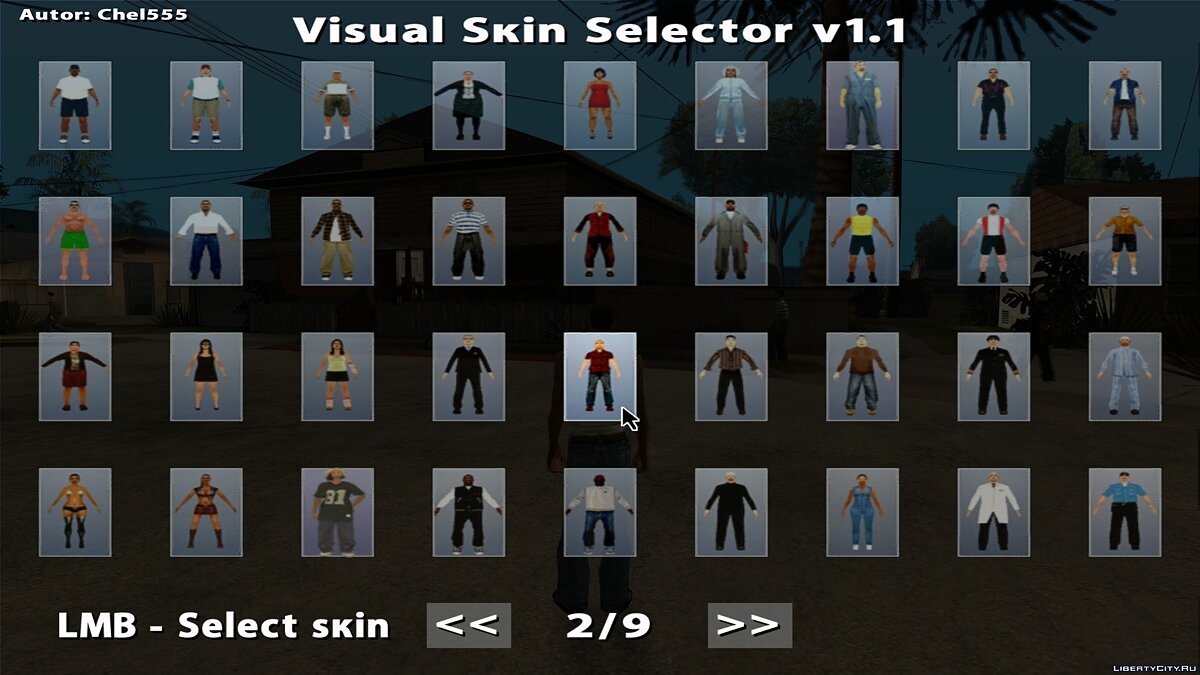 Visual Skin Selector v1.0 for GTA San Andreas - screenshot #2