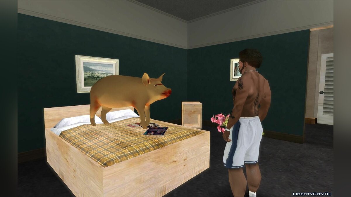 CLEO script Pig in CJ's house (remake) for GTA San Andreas