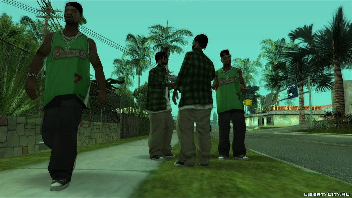 Choice of walking style for GTA San Andreas