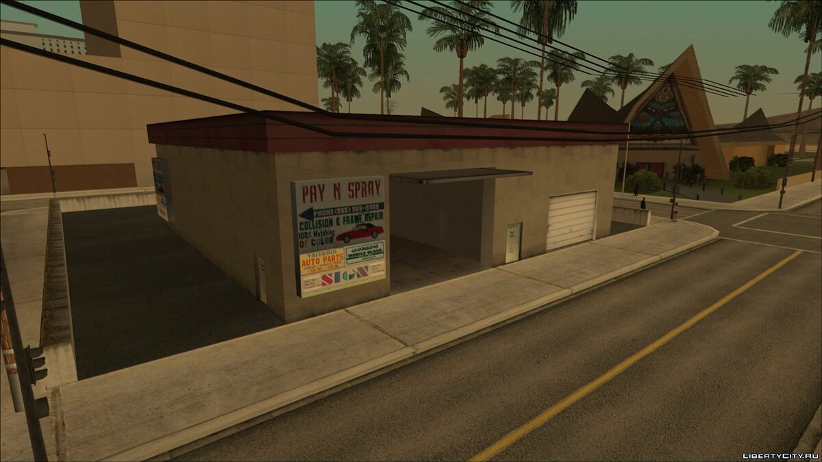 Unused Pay'n'Spray from PS2 for GTA San Andreas