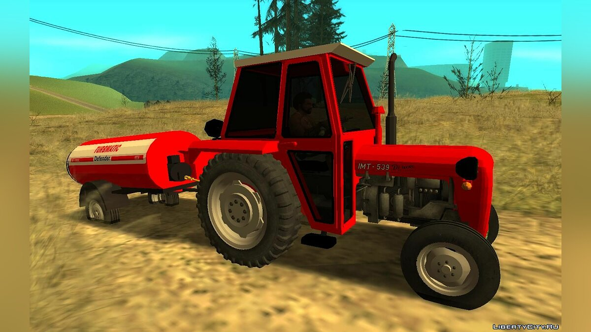 Farming vehicles IMT 539 + Trailer for GTA San Andreas