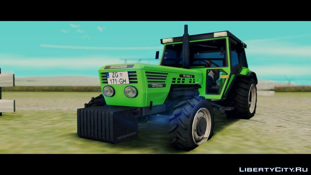 Farming vehicles Torpedo TD 90 06 A [Green] for GTA San Andreas