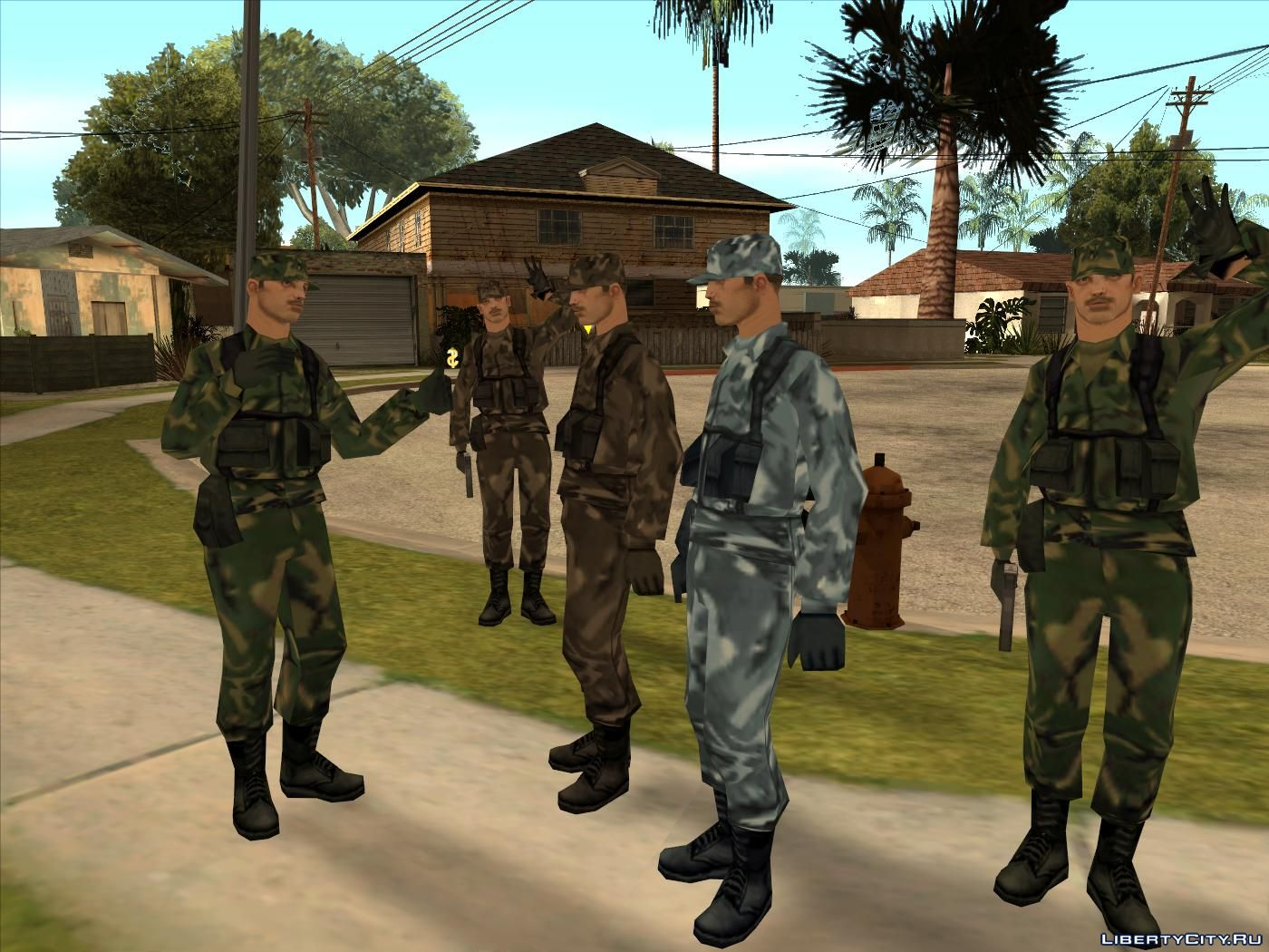 Collection Of Army Skins For Gta San Andreas