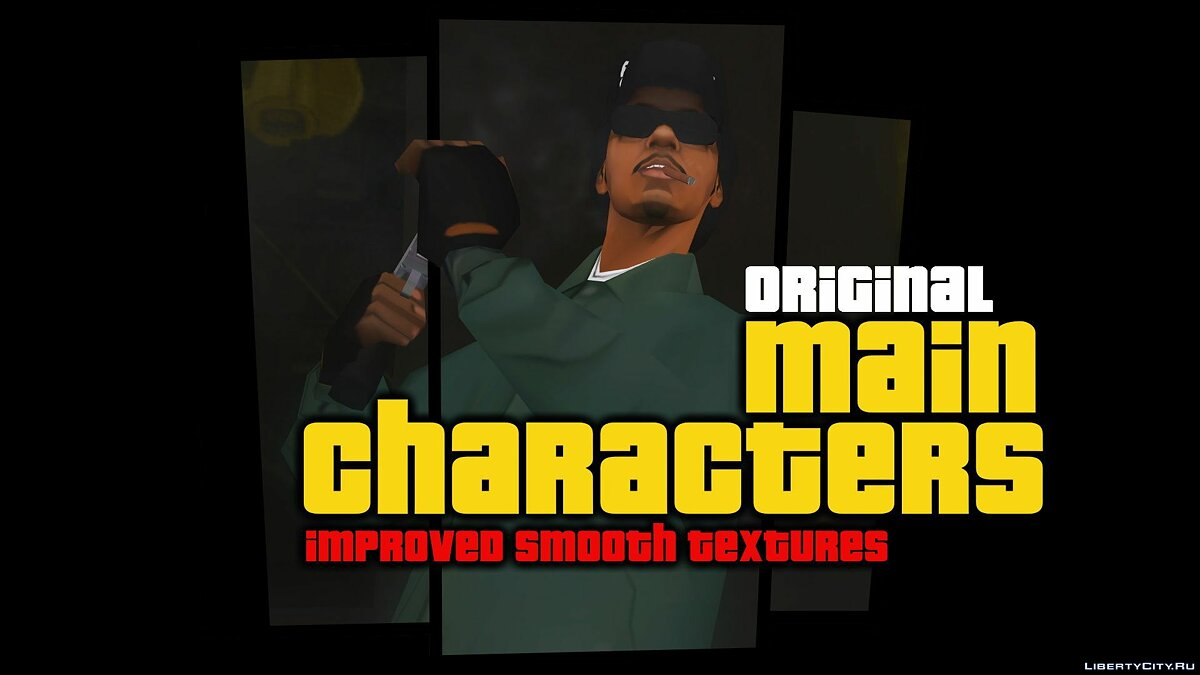 Skin packs Original Main Characters Improved Smooth Textures [update # 1] for GTA San Andreas