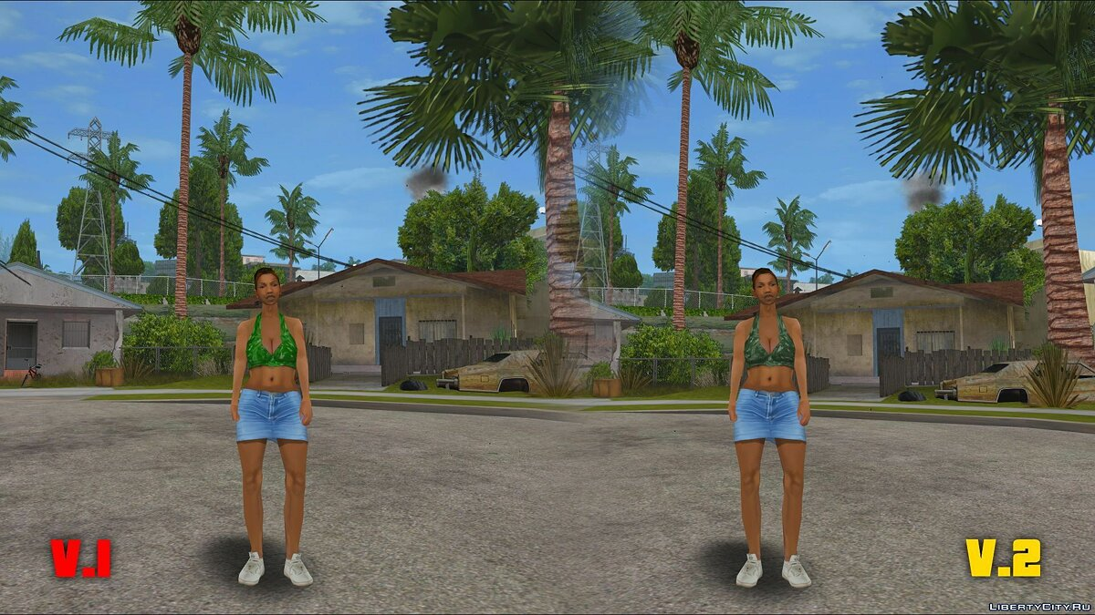 Original Main Characters Improved Smooth Textures [update # 1] for GTA San Andreas - Картинка #9
