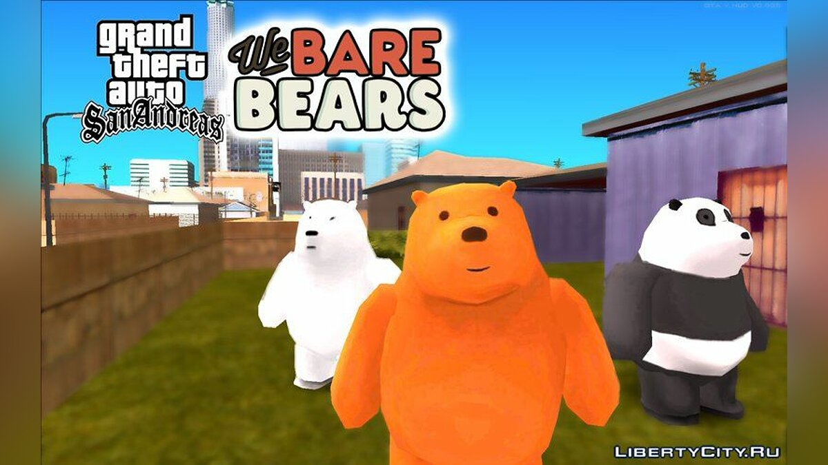 Skin packs Collection of skins from the cartoon We Bare Bears for GTA San Andreas