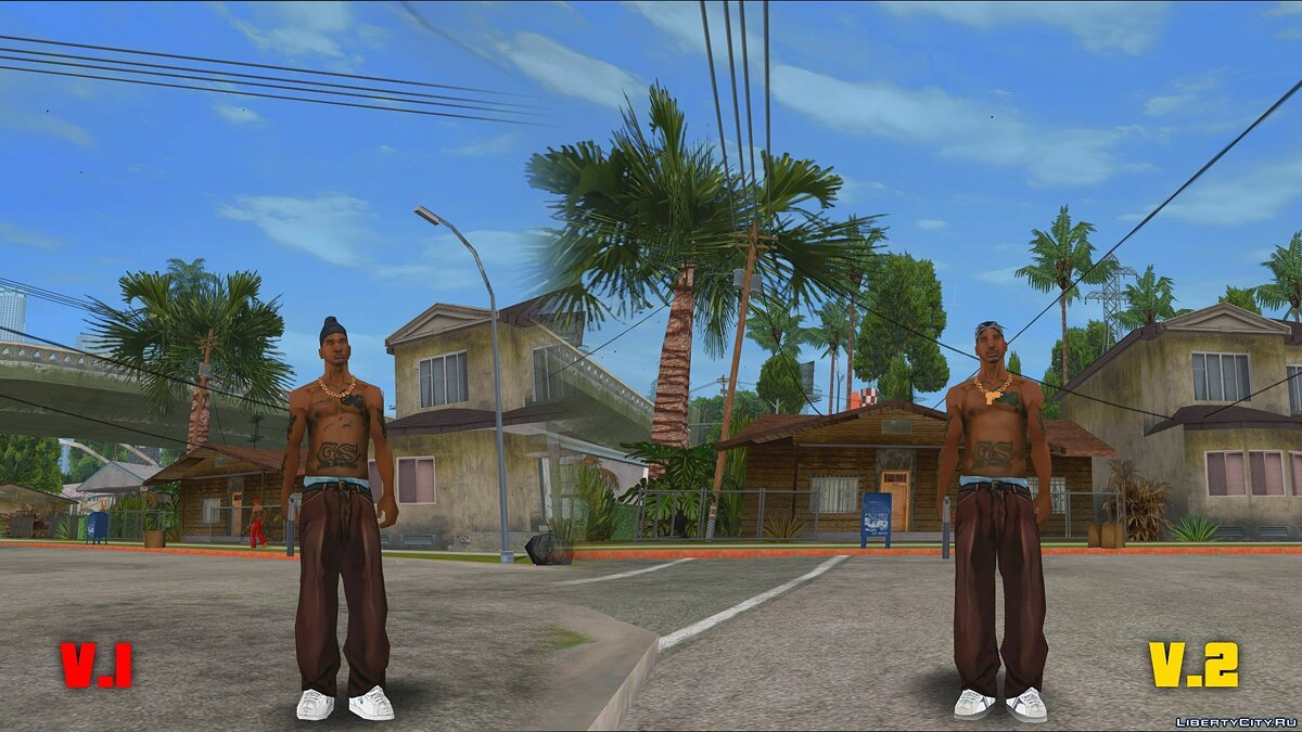 Original Main Characters Improved Smooth Textures [update # 1] for GTA San Andreas - Картинка #4