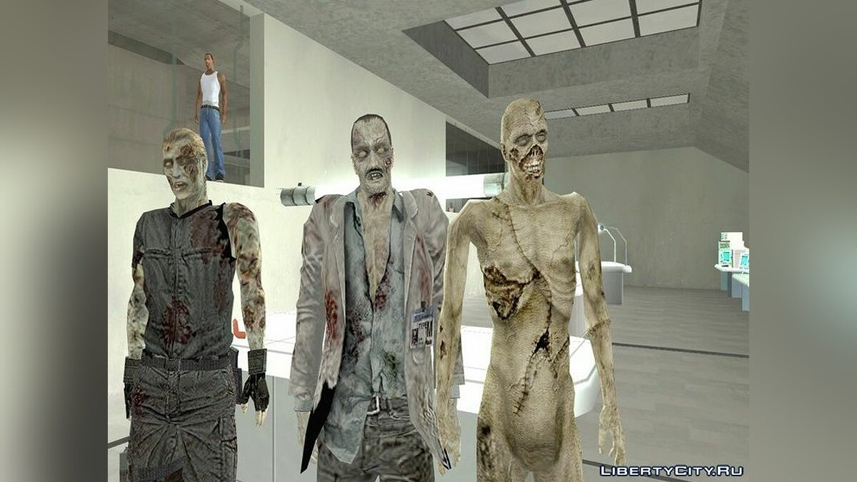 Skin packs A collection of zombies from the game Resident Evil Zero for GTA San Andreas