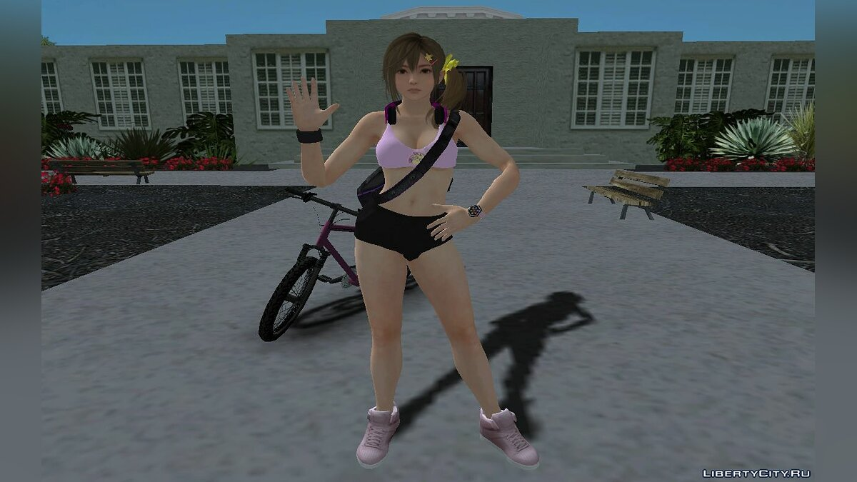 Skin packs DOAXVV's Misaki in the gym (I'm a fighter) for GTA San Andreas