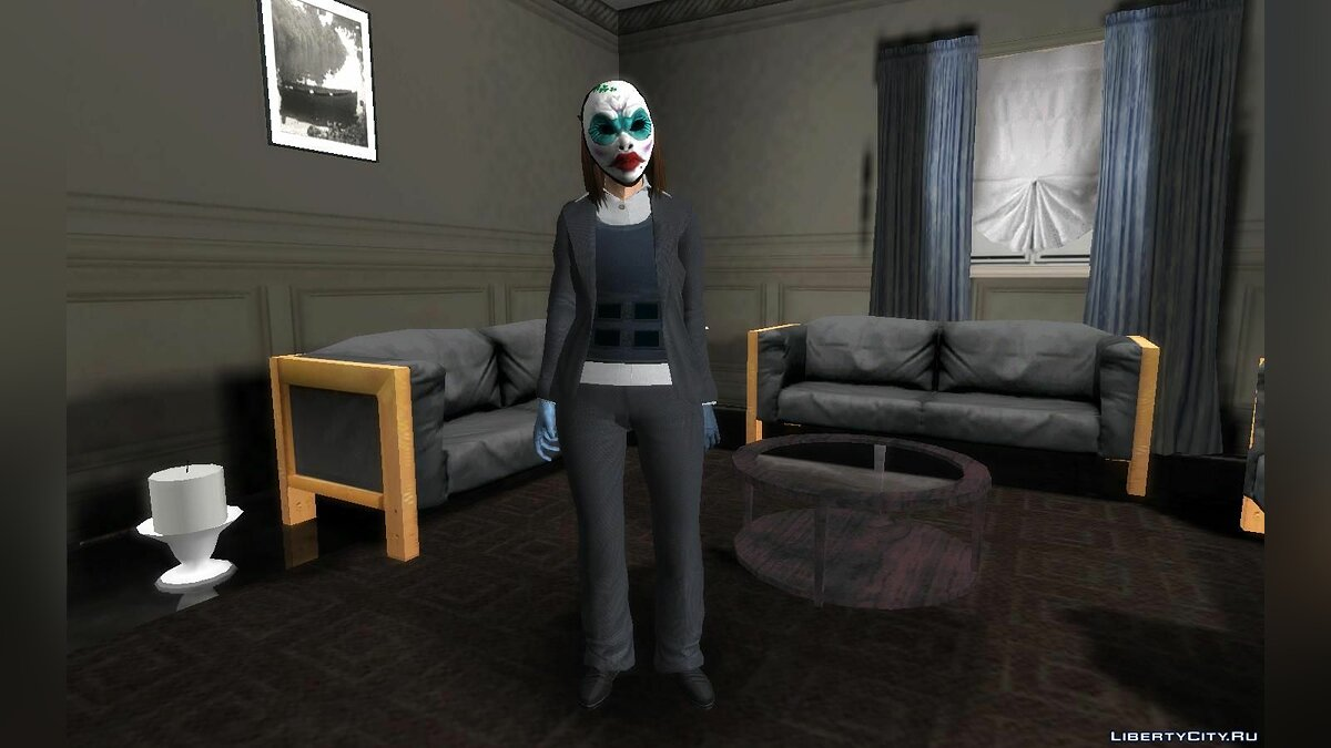 Skin packs Clover from the game PAYDAY 2 for GTA San Andreas