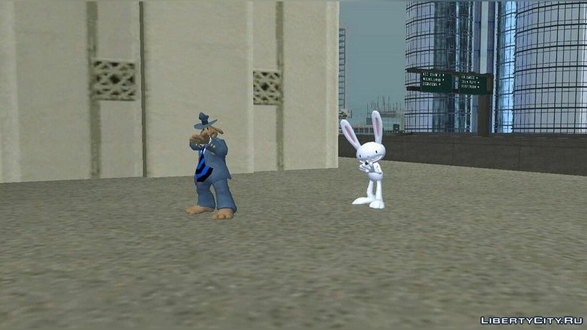 Skin packs Sam & max for GTA San Andreas