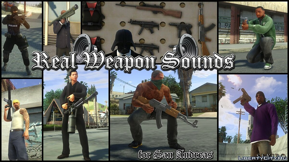 New sounds Real Weapon Sounds for GTA San Andreas