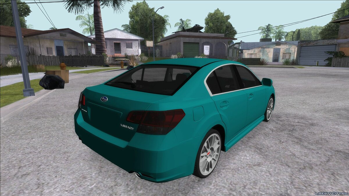 Subaru car Subaru Legacy B4GT 2010 for GTA San Andreas