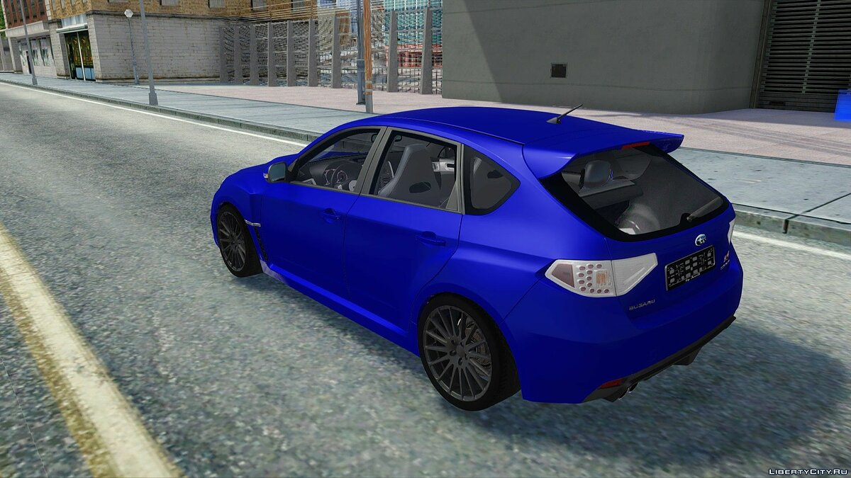 Subaru car Subaru Impreza WRX STI 2008 for GTA San Andreas
