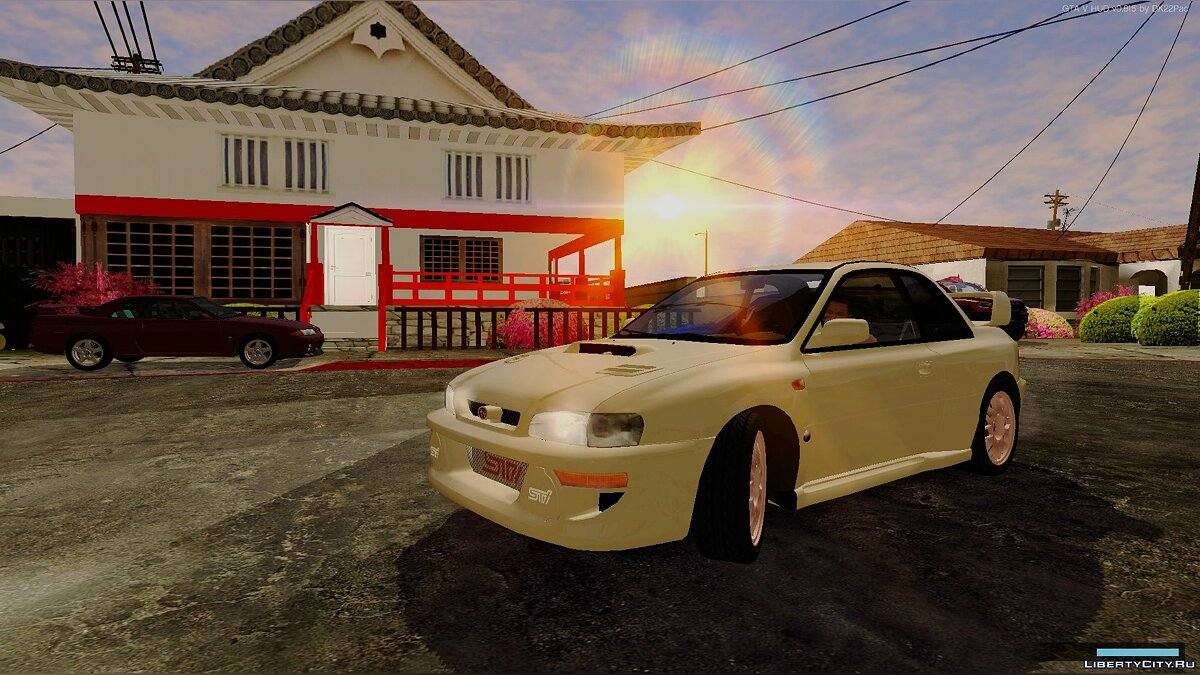 Subaru car Subaru Impreza 22B STI (with spoiler and extra) for GTA San Andreas