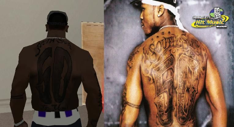 Cent Tattoo for GTA San Andreas
