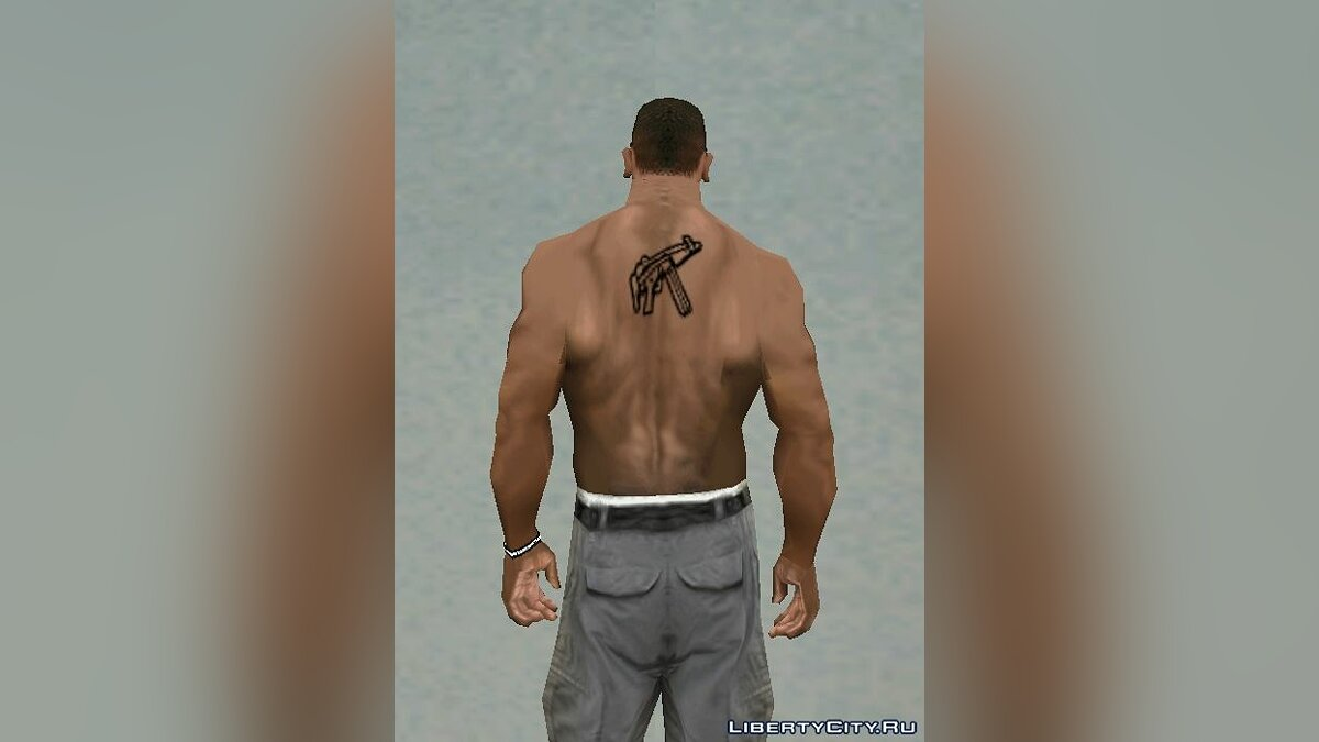 Tattoos MP5 Back Tattoo Black for GTA San Andreas