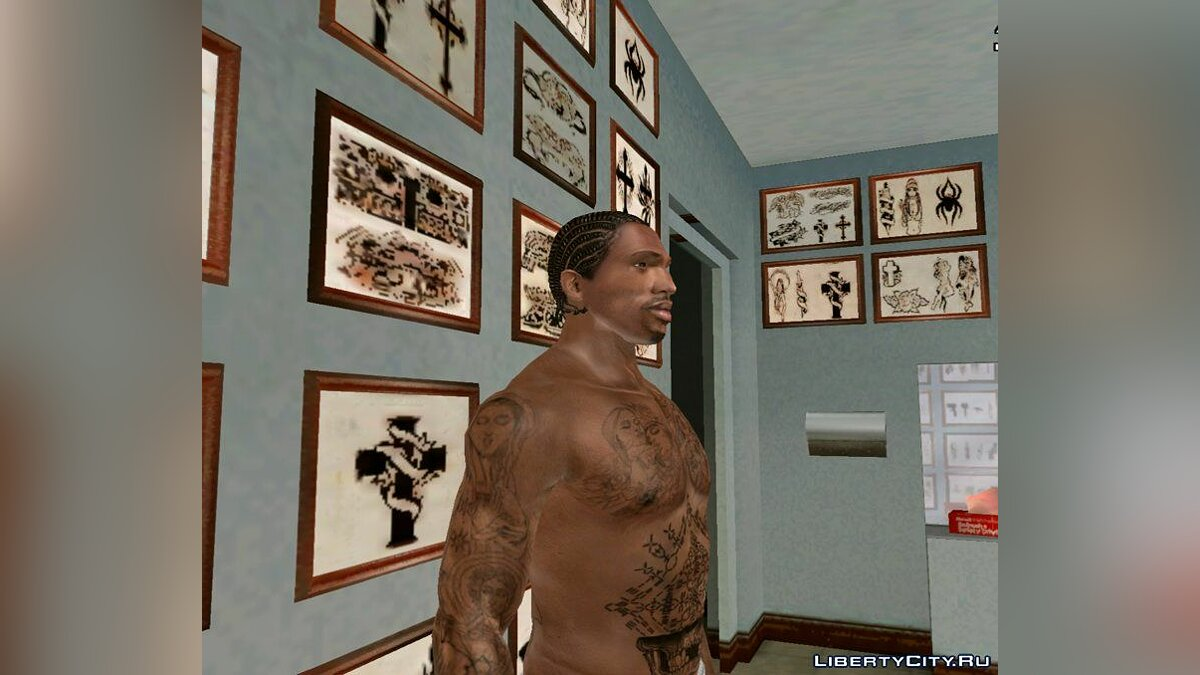 Tattoos Tattoo collection for GTA San Andreas