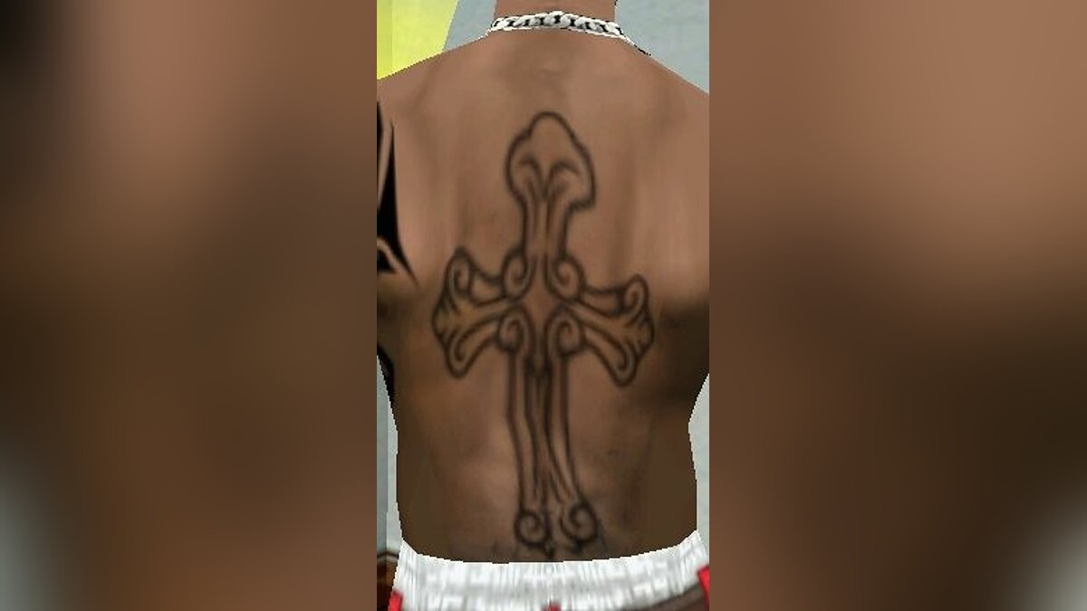 Tattoos Celtic Cross for GTA San Andreas