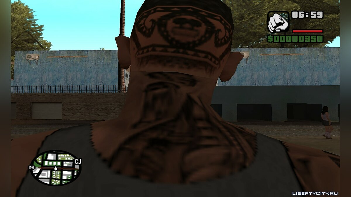 Tattoos Bear Tribal for GTA San Andreas