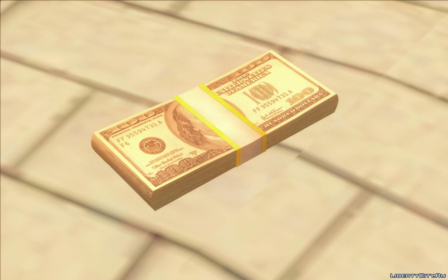 Replacement of money dff in GTA San Andreas (38 file)