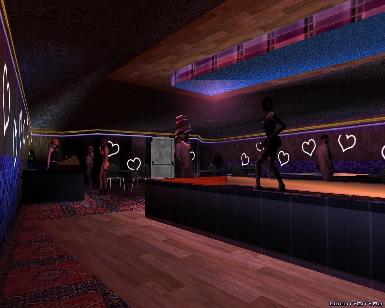 retexture of the strip club interior for gta san andreas. Black Bedroom Furniture Sets. Home Design Ideas