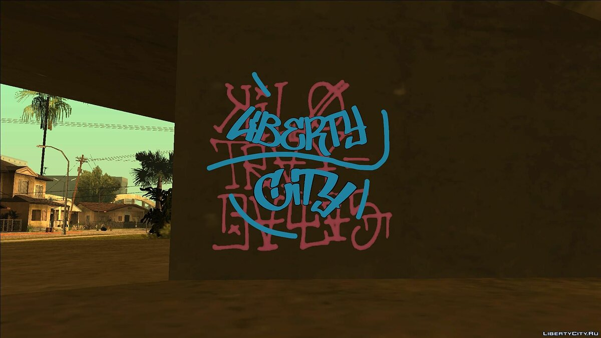 Texture mod Liberty City Fan Graffity (4K) for GTA San Andreas