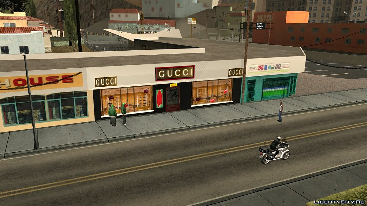 Texture mod New gucci store for GTA San Andreas
