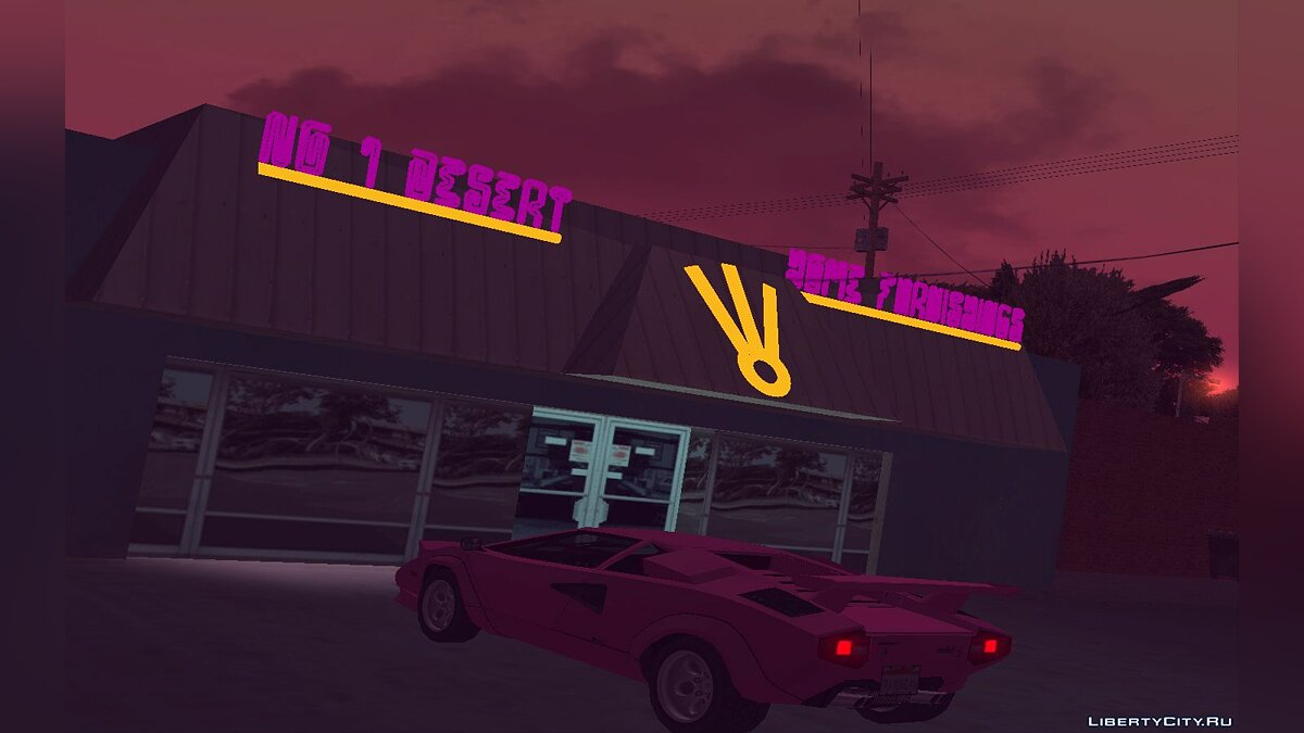 Texture mod Neon retexture of Fort-Carson village for GTA San Andreas