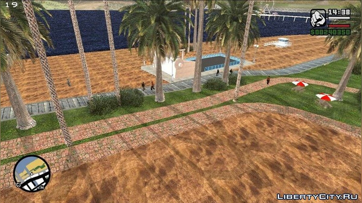Texture mod 4K realistic texture for the beach in Los Santos for GTA San Andreas