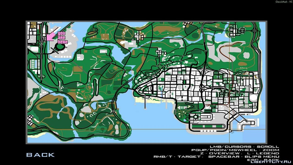 Texture mod GTA Vice City style map for GTA San Andreas